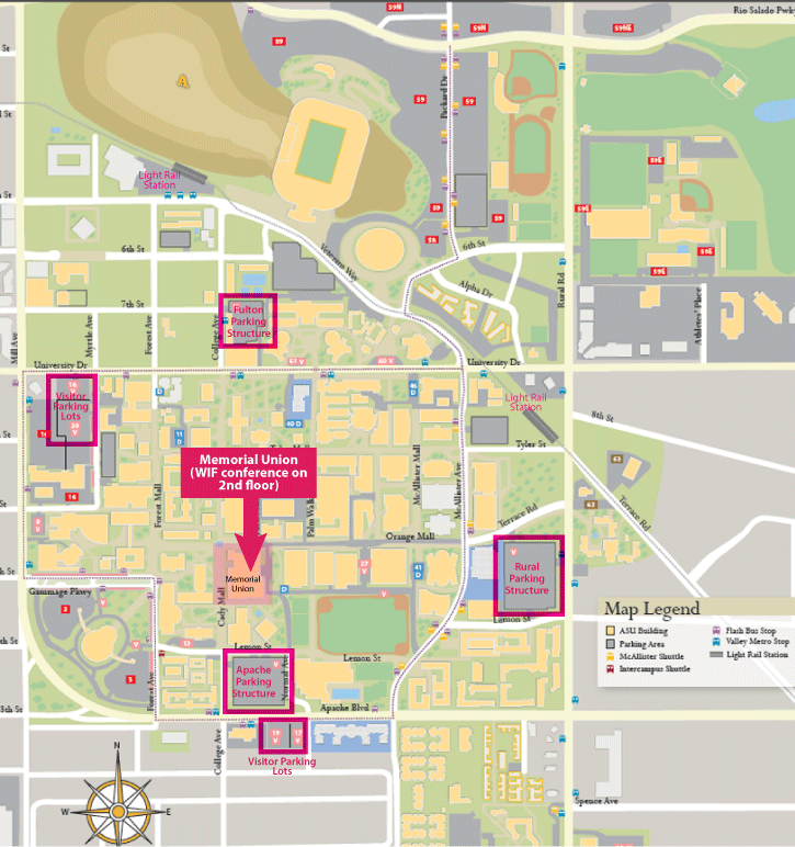 Asu Parking Map 2012 Women in French Conference at Arizona State University