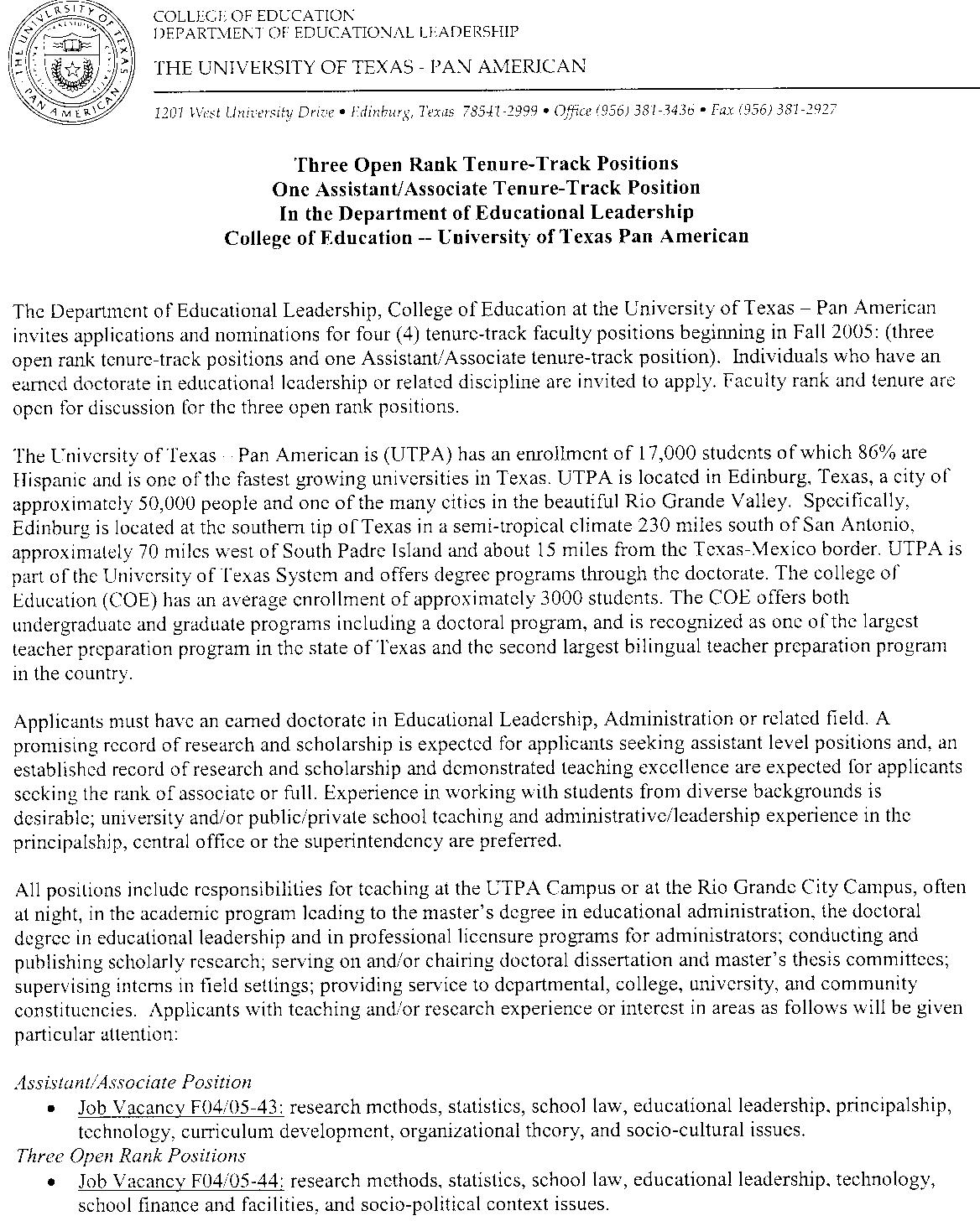Sample Recommendation Letter For Tenure Track Position | Docoments ...