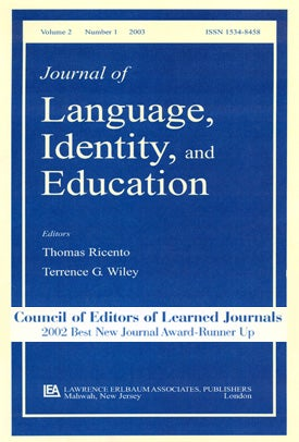 language and identity thesis Cal phenomena including studies of language as a cultural identity capable of affecting personality and emotion for example, hong and colleagues.