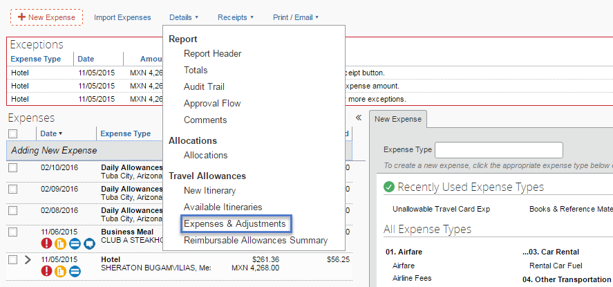 create daily allowance per diem expenses business and finance
