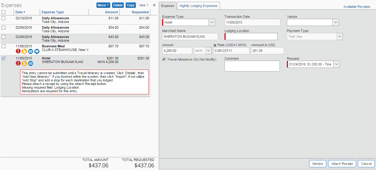 itemize expenses business and finance