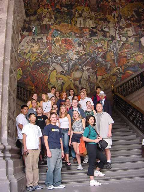 Online study guide for Diego rivera mural 1929